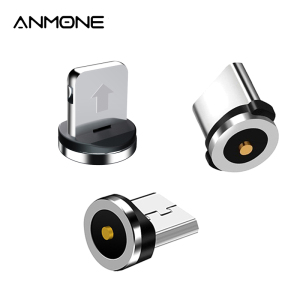 Magnetic Plug 2 Pin Magnetic Charging Cable Adapter Micro USB Type C Magnet Connector Mobile Phone Dust Plugs