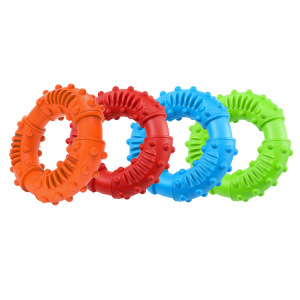 Dog Toys for Aggressive Chewers, Nearly Indestructible Tough Durable Natural Rubber Puppy Chew Toy for Large & Medium Breeds