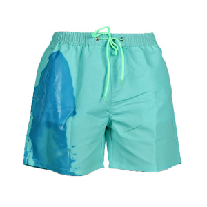 Mens Color-Changing Beach Swim Trunks - Temperature-Sensitive Beach Quick-Drying Surfing Swimming Trunks