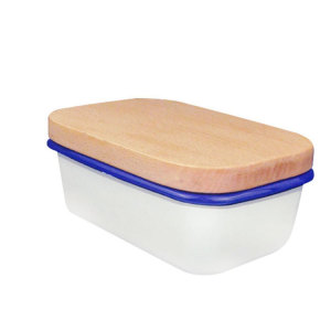 Butter Dish with Lid -  Butter Keeper For Counter Makes Spreading Effortless - No-Slip Lid with Handle - Holds 1 Standard Stick - Polished Ceramic Butter Holder