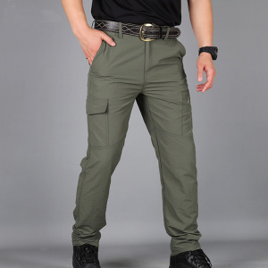 Men's Scratch-Proof Waterproof Pants Relaxed Fit Tactical Combat Army Cargo Work Pants with Multi Pocket