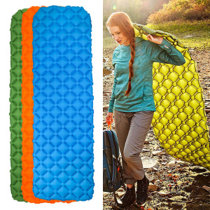 Ultralight Air Sleeping Pad - Inflatable Camping Mat for Backpacking, Traveling and Hiking Air Cell Design for Better Stability & Support - Best Sleeping Pad
