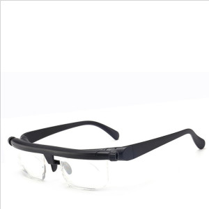 Adjustable Focus Eyeglasses -6D to +3D Diopters Myopia Magnifying Reading Glasses Variable