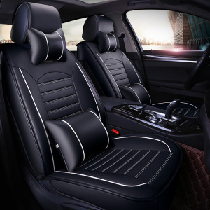 Car Seat Cover Full Front+Rear Cushion Size L Deluxe PU leather