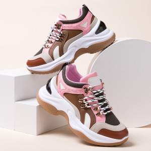 Breathable 35-40 Women Sneakers Height Increasing Shoes with High Heel