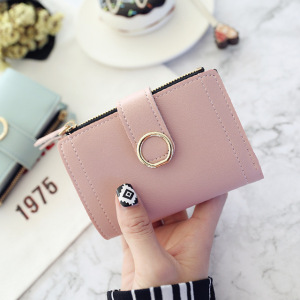 hot-selling Zipper clasp ring simple small wallet