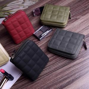 Mini Ladies Zipper Coin Student Short Embroidered Female PU Wallet Purse