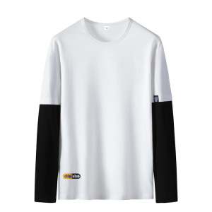 100% high-quality cotton long-sleeved cotton men's multicolor long-sleeved T-shirt