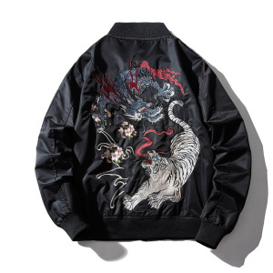 APHACATOP 2020 Wholesale Black Jackets Men Embroidery Oversized