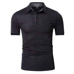 New Spring and Summer Golf Polos Pure Color Men's Quick Dry Sweater Fit Polos Shirt