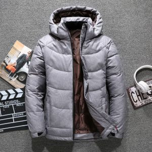 Winter Mens Stand Collar Solid Color Thicken Leisure Down Cotton Coat High Parka WinterJacket Padding Jacket