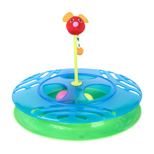 Cat Tracks Cat Toy - Fun Levels of Interactive Play - Circle Track with Moving Balls Satisfies Kitty's Hunting, Chasing & Exercising Needs
