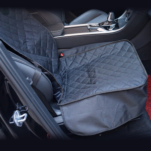 Front Seat Cover for Dogs - 100% Waterproof Heavy Duty Scratch Durability, Nonslip Backing, Quilted, Padded, Pet Seat Covers for Cars, Trucks, Vans, and SUVs