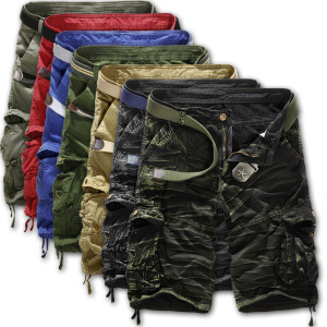 Summer Men's Cargo Shorts Casual Camouflage Loose Shorts
