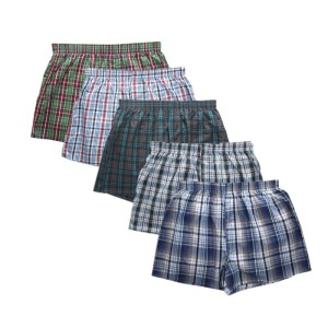 Men's Tartan Boxer with Inside Exposed Waistband