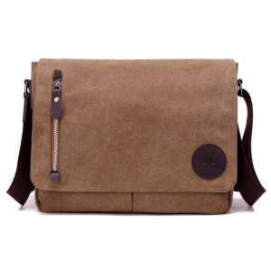 Unisex Casual Canvas Satchel Messenger Bag for Traveling Camping