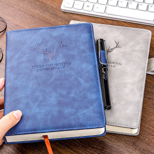 360 Pages Super Thick Wax Sense Leather A5 Notebook Business Office Daily Work Notebook NotebookS Free Portrayal Company Logo 4.