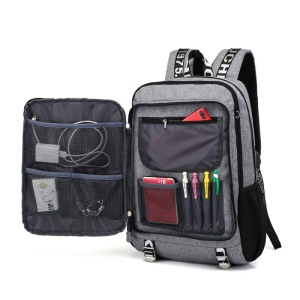 16 Inch USB Charging Laptop Briefcase Business Travel Backpack Computer Bag Water-resistant Rucksack Hiking Knapsack Multi-compartment