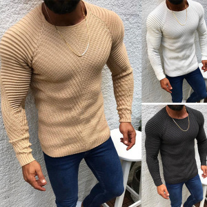 New Fashion Men Autumn Winter Long Sleeve Knitted Sweater Tops Casual Slim Fit All-match Knitwear Sweaters Pullovers