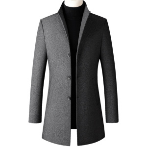 Mens Fashion Jackets Windbreaker Trench Coat for Men Casual Slim Fit Middle Length Jackets
