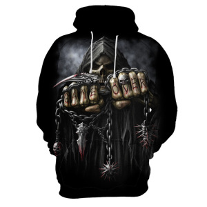 Plus Size Men's Fashion Skull 3D Printed Tops Short Sleeve O-neck Funny Gothic Death God T Shirt