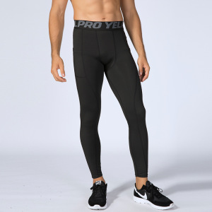 Pocket pants Men Fashion Sports Leggings Compression Pants Running Jogging Fitness Exercise Gym Tights Trousers