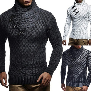 Men's Autumn and Winter Knitted Sweater Crochet Sweater Jacket