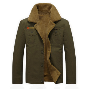 Plus Size Winter Bomber Air Force Pilot Warm Male Fur Collar Army Tactical Mens Aircraft