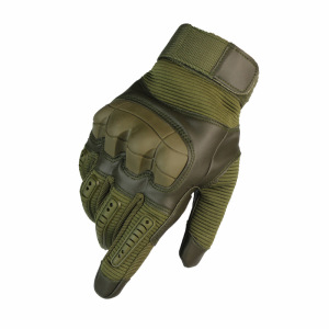 High Quality Touch Screen Military Tactical Rubber Hard Knuckle Full Finger Gloves